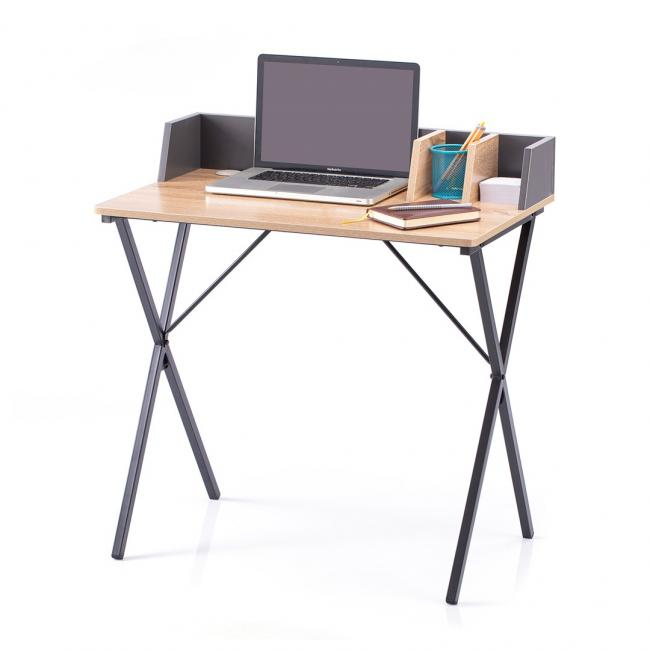 Biuro - stolik - kolor dębowy  czarne nóżki - LOFT