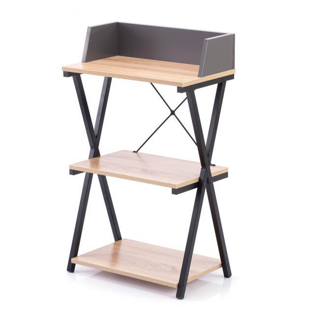 Biurko - stolik - kolor dębowy - nóżki czarne