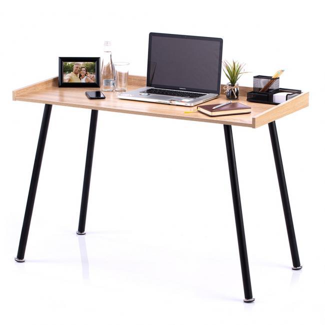 Biurko - stolik - kolor dąb - nóżki czarne - LOFT