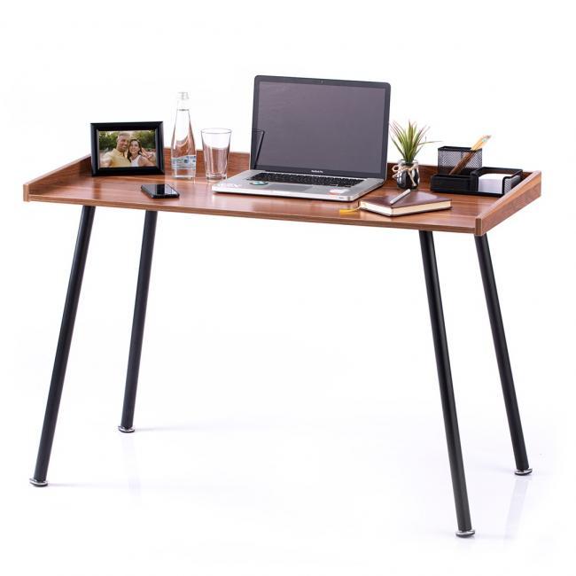 Biurko - stolik - kolor orzech - nóżki czarne - LOFT
