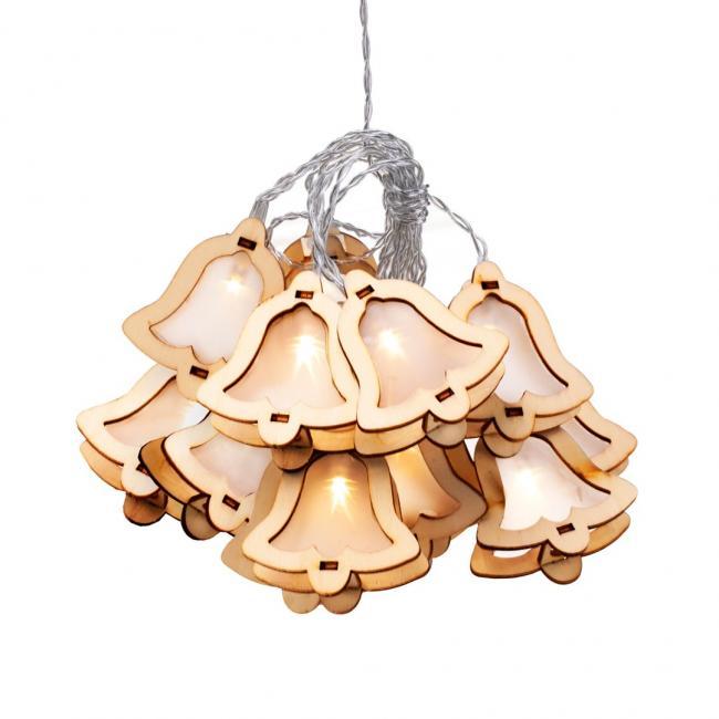 DEcoKing - Lampki LED Woodenbell