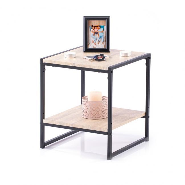 Stolik kawowy - jasnobrązowy - 45 x 40 x 40cm