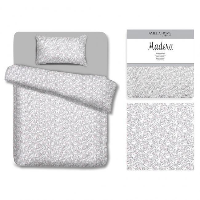 AmeliaHome - Pościel z bawełny - LOVELY MORNING - 135 x220 cm + 80 x 80 cm