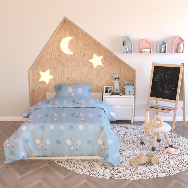 AmeliaHome - pościel dla dzieci - bawełna - 135 x200 cm + 40 x 60 cm + 80 x 80 cm
