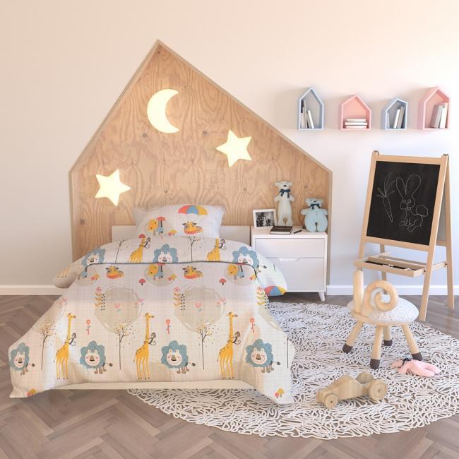 AmeliaHome - pościel dla dzieci - bawełna - 135 x 200 cm  + 40 x 60 cm  + 80 x 80 cm - ZABAWKI