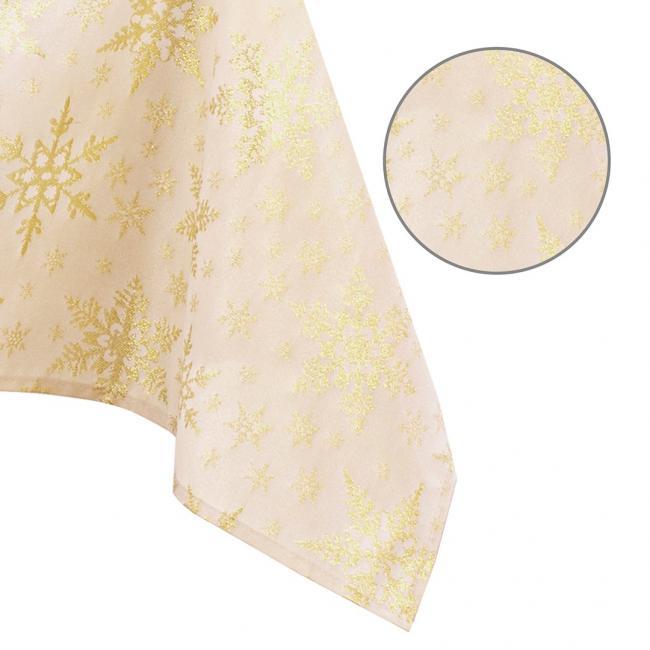 AmeliaHome - obrus świąteczny - złoty -  różne rozmiary
