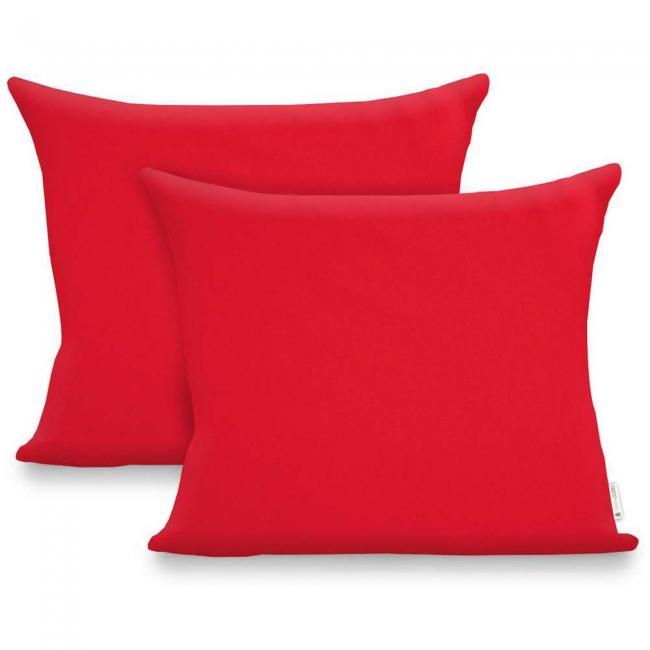 Poszewka z bawełny 50x60cm - 2 sztuki - czerwona - tylko 1 komplet w SUPER CENIE !!!