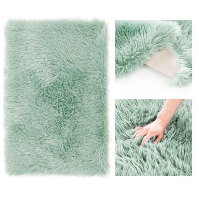 AmeliaHome - Dywanik dekoracyjny - prostokąt - niebieski