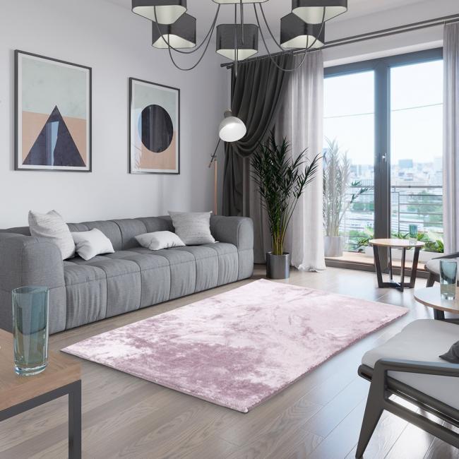 AmeliaHome - dywan dekoracyjny - prostokątny - różowy