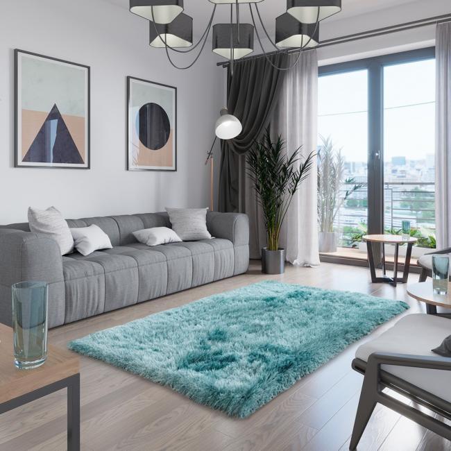 AmeliaHome - dywan dekoracyjny - niebieski - prostokąt