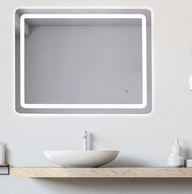 Lustro 80x60cm podświetlane LED