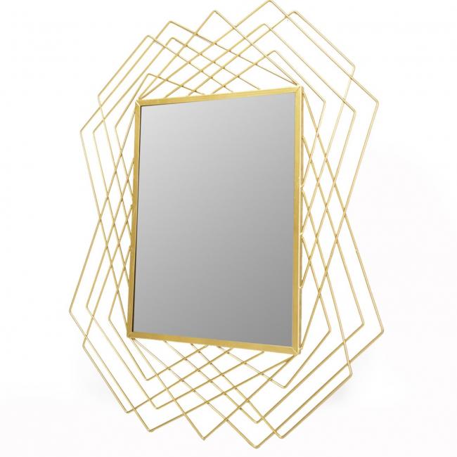 Lustro ramie w kolorze złotym