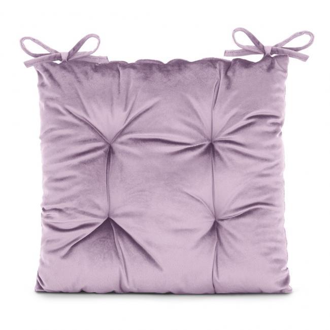 Amelia Home - poduszka na krzesło welwetowa - 40x40 cm - fioletoworóżowa
