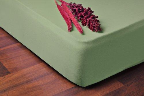 DecoKing -  Prześcieradło z bawełny, z gumką, zielone, różne rozmiary