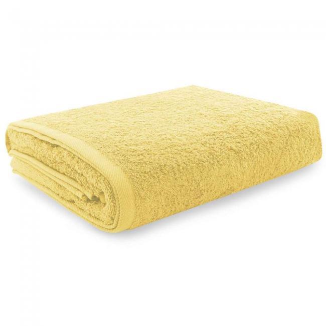 Ręcznik 100% frotte, żółty - różne rozmiary