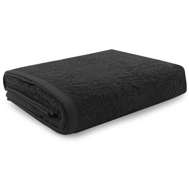 Ręcznik 100% frotte, czarny - różne rozmiary