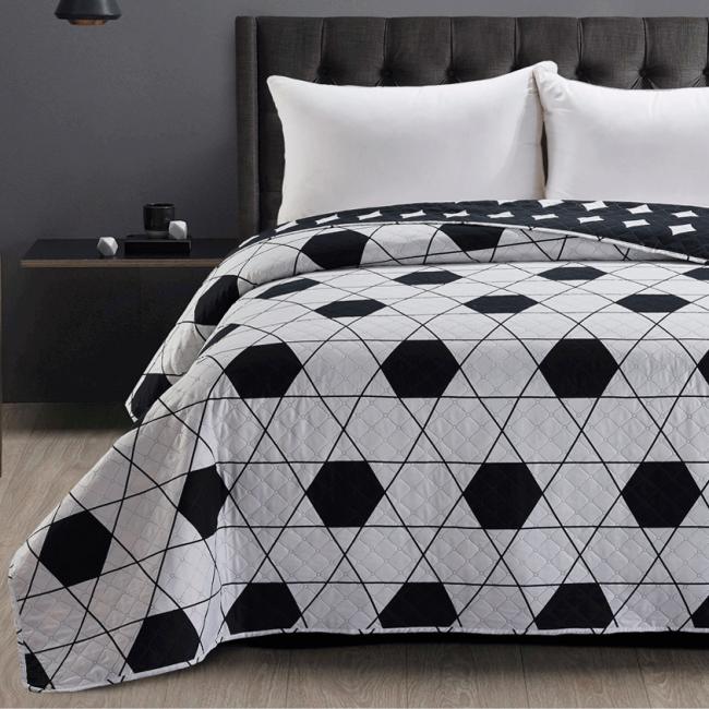 DecoKing - Narzuta dwustronna, biało-czarna, wzory geometryczne- różne rozmiary