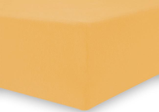 DecoKing - Prześcieradło z mikrofibry, gumki, pomarańczowe - różne rozmiary