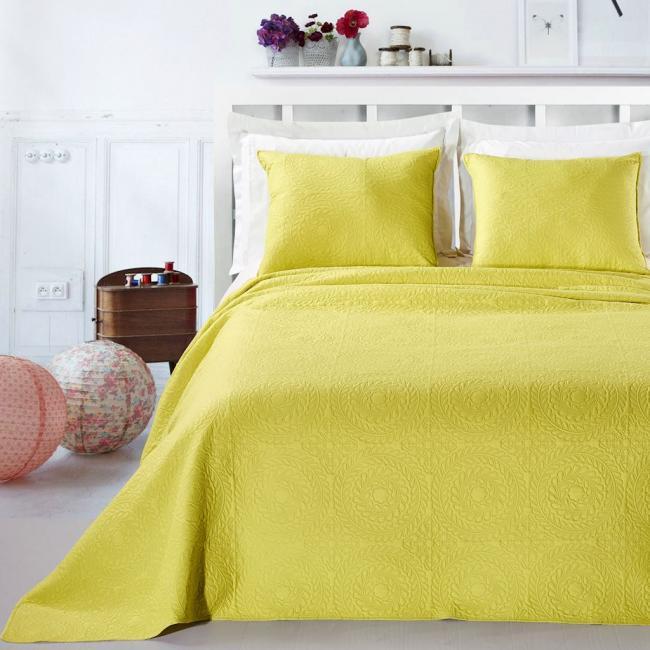 DecoKing - Narzuta jasnozielona + poszewka na poduszkę 50x60 cm - różne rozmiary