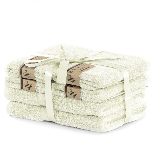 DecoKing - Ręcznik kąpielowy Bambusowy  ecru - 6 sztuk