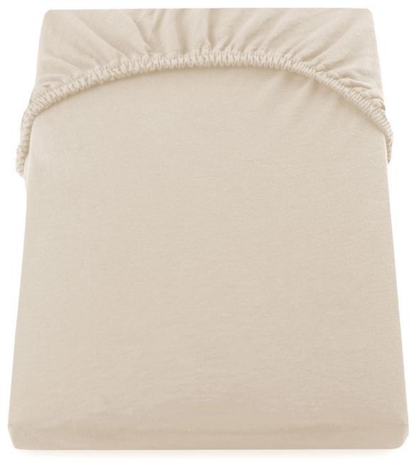 DecoKing -  Prześcieradło z bawełny, z gumką, beżowe, różne rozmiary