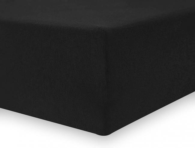 DecoKing -  Prześcieradło z bawełny, z gumką, czarne, różne rozmiary
