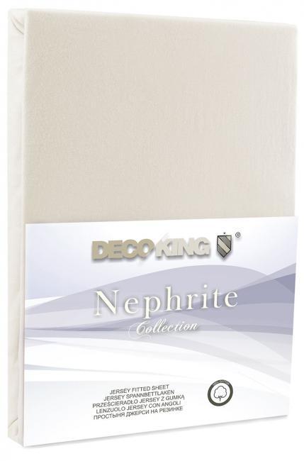 DecoKing - Prześcieradło z bawełny, gumki, kremowe - różne rozmiary