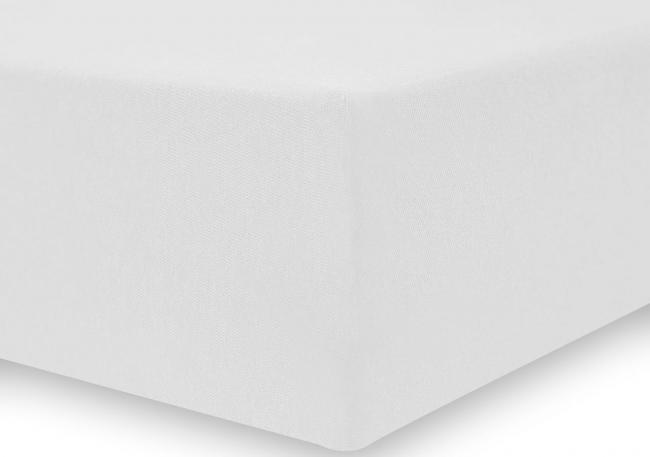 DecoKing -  Prześcieradło z bawełny, z gumką, białe, różne rozmiary