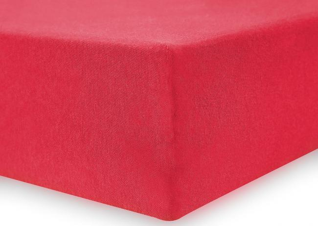DecoKing -  Prześcieradło z bawełny, z gumką, czerwony, różne rozmiary