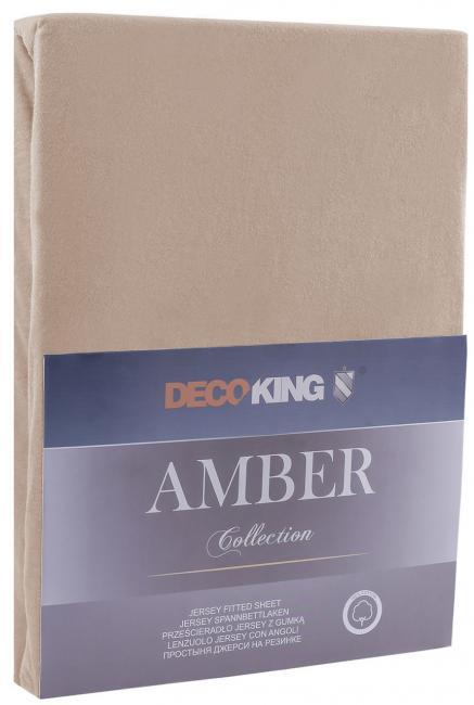 DecoKing -  Prześcieradło z bawełny, z gumką, capuccino, różne rozmiary