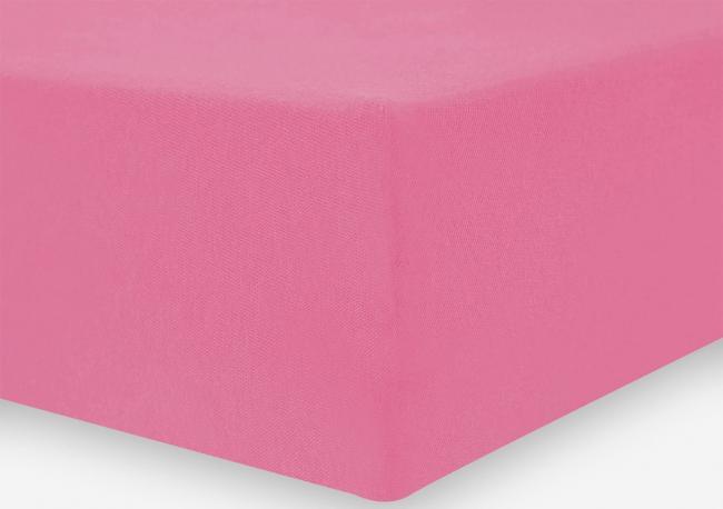 DecoKing Prześcieradło z mikrofibry, z gumką, różowe, różne rozmiary
