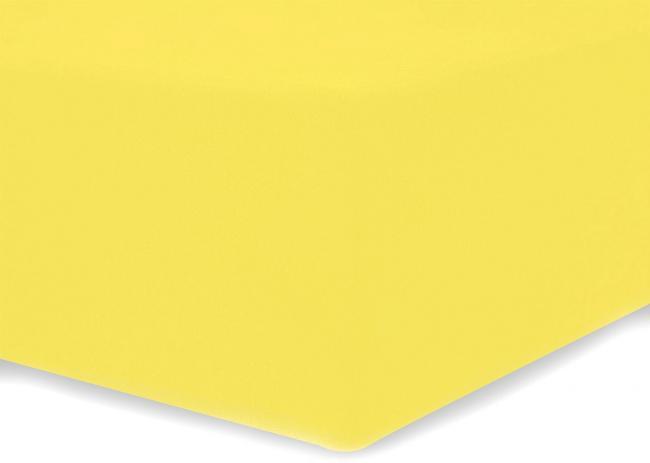 DecoKing - Prześcieradło z mikrofibry, gumki, żółte - różne rozmiary